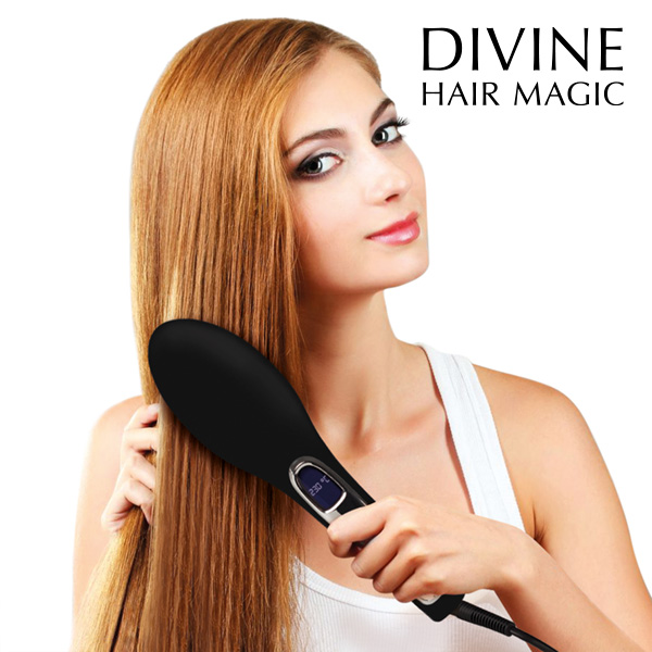 Brushture Electric Hair Straightener Brush